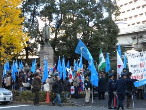 習近平来日に際しての抗議デモ