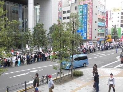 2009年9月27日秋葉原外国人参政権反対デモ