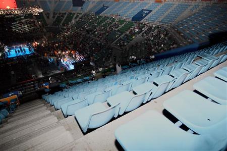 2010年3月27日のWBC世界フライ級タイトルマッチ「亀田-ポンサクレック戦」有明コロシアムの空席