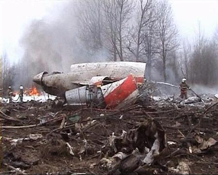 ポーランド大統領ら搭乗した96人全員が死亡したツポレフ154(ロイター)