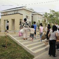 千歳にあるニトリの別荘に向かう支那人家族ら