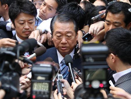 民主党代表選出馬の意向を固めた小沢一郎・民主党前幹事長=26日午前