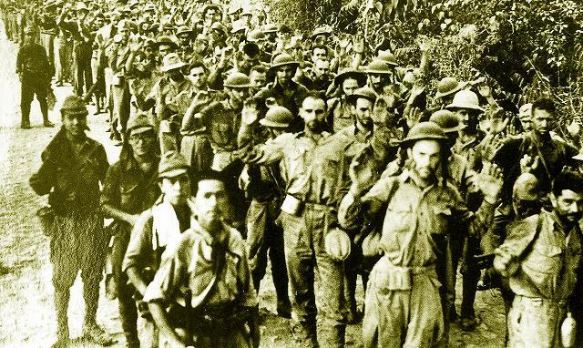 「バターン死の行進」米軍捕虜は水筒も保有している。これで「非人道的」って岡田は死ね