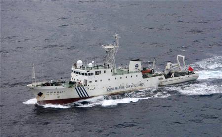写真:支那の海洋調査船「海監46号」(2008年に日本の領海に侵入)