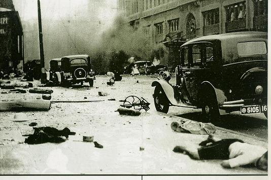 上海戦、渡航爆撃\12580224464afbe62e80ba8支那軍による上海爆撃により夥しい数の支那人や外国人が殺害された