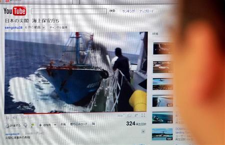 流出した尖閣事件の動画=5日