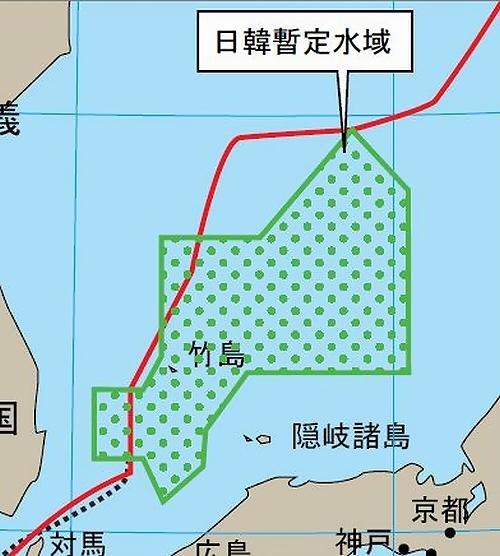 竹島を侵略するだけでなく日本から膨大な領海や経済水域を現在進行形の形で奪っている韓国