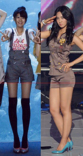 日本と韓国、ほぼ同じ身長のメンバー同士でスタイルの違いを比べてみると (徳永&ユリ編)