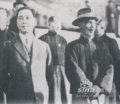 汪精衛(汪兆銘):左と、蒋介石:右