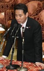 衆院予算委員会で、自民党の稲田朋美氏の質問に答える前原誠司外相=21日午前、国会・衆院第一委員室