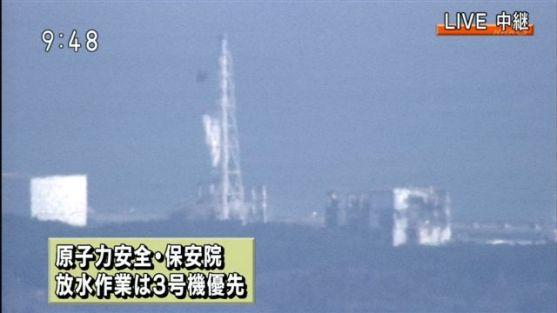 福島第一原発 自衛隊 空陸から3号機冷却へ