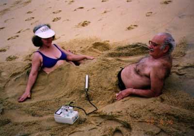 があるブラジルのガラパリ海岸