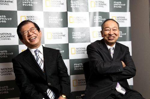 「ホンマでっか!?TV」武田邦彦さんと池田清彦さん(右)=村上宗一郎撮影