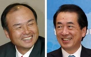 2011年5月14日「浜岡原子力発電所の運転中止は歴史的な英断だ」(孫正義ソフトバンク社長) 「元気をいただいた」(菅直人首相)