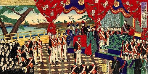 大日本帝国憲法発布式典の錦絵