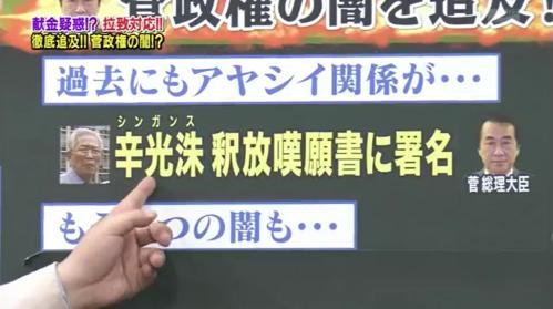 山際「そうなんです。この事件が問題なのは菅さんには前科があるんです。辛光洙(シンガンス)さんという、この人も拉致の実行犯なんですね」