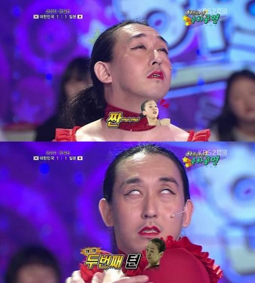 増谷キートンが韓国で浅田真央の回転時の表情(変顔)などを愚弄するマネをし、韓国人が「大爆笑」