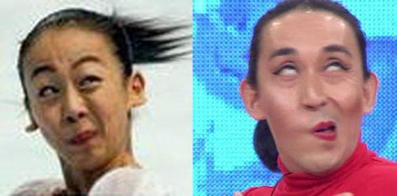 増谷キートンが韓国で浅田真央の回転時の表情(変顔)などを愚弄するマネで「大爆笑」・ブログ炎上