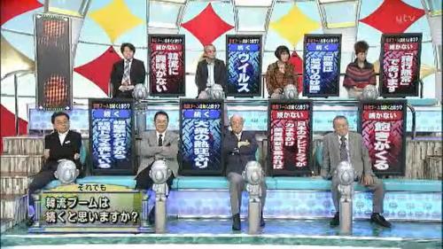 9月18日放送の読売テレビ「たかじんのそこまで言って委員会」韓流ブームの行方は?