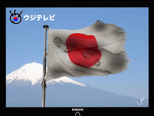 2011.9.19 国を売るメディア(フジテレビ)を糾弾する国民行動・第二弾!\1560147フジTVのボロ国旗に見えた韓流の終わり