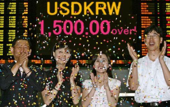 韓国破綻2008年