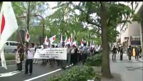 9月23日において大阪にて大阪フジテレビ・花王デモ