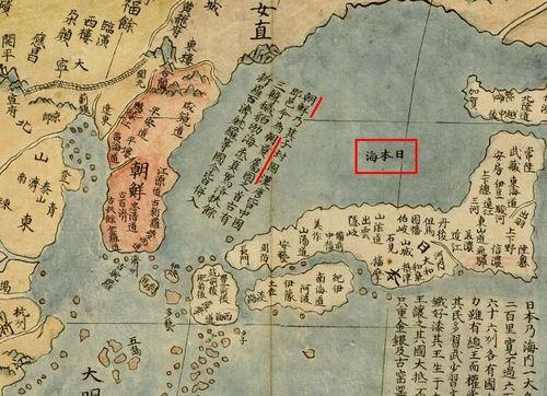 明の属国朝鮮 朝貢属国!1602 日本海(Sea of Japan)「坤輿萬國全図」、制作Matteo Ricci、北京。