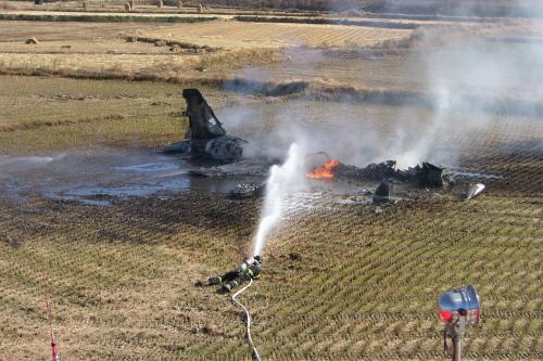 2008年11月4日、訓練中に墜落した韓国空軍F-5E戦闘機