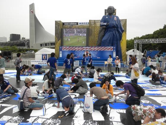 国立代々木競技場内にオープンしたサッカー日本代表応援拠点「SAMURAI BLUE PARK」