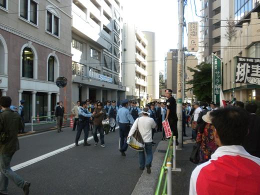 支那大使館へ抗議!在特会「シナ中共への緊急抗議活動」