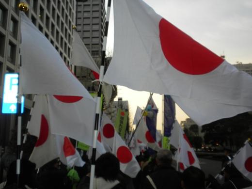 「頑張れ日本!」設立一周年 1.29 亡国「TPP」絶対阻止!中国尖閣占拠絶対阻止!民主党(菅)内閣打倒!「第三の潮流」へ!国民大行進、日の丸