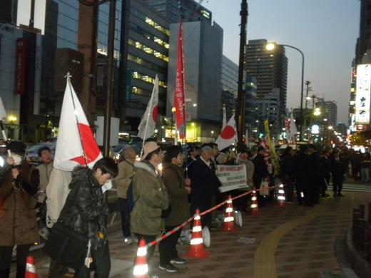 「在特会」主催の【左翼恒例「3・1朝鮮独立運動92周年集会」への抗議活動】