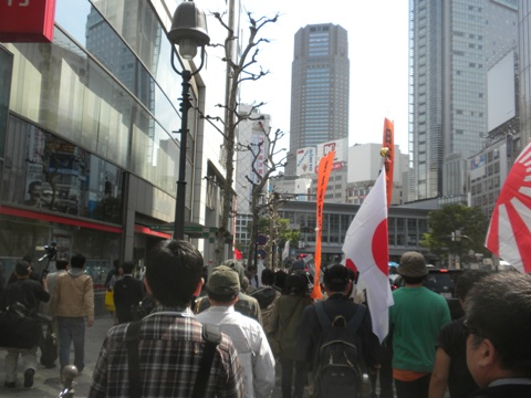2011.4.17日本の電力を守ろう! 原発の火を消させないデモ行進!