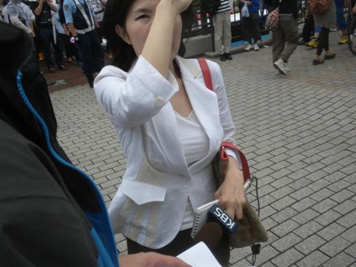 2011.8.21フジテレビに対する大規模抗議デモ(ダブルヘッダー)韓国KBS