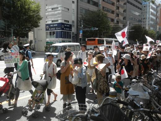 2011.9.16花王本社平日抗議デモ ベビーカー