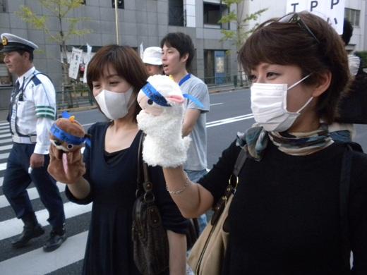 2011.10.16TPPを断固拒否するデモ!