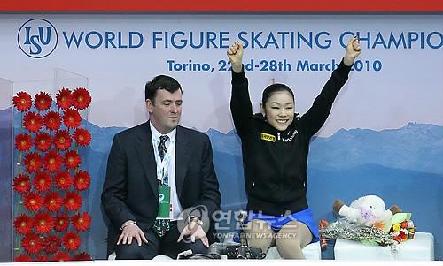 2010.3.27女子フィギュア世界選手権のキムヨナ