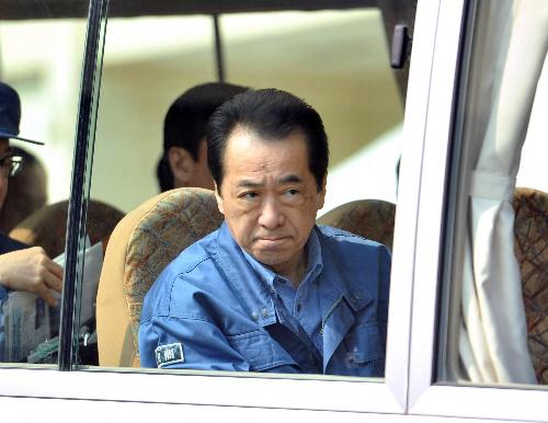 菅首相、被災地を視察(陸前高田市4月2日)