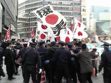 2010.2.14池袋陽光城、妨害に反撃