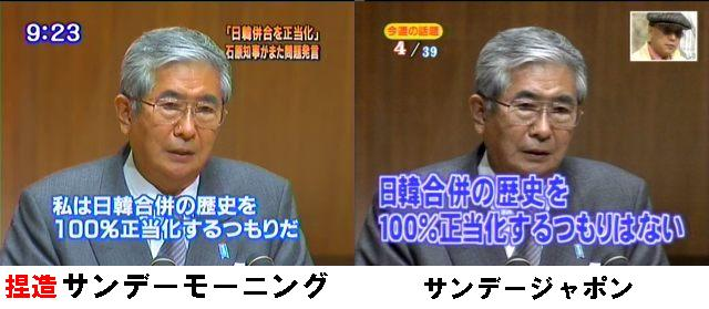 石原慎太郎東京都知事の日韓合併正当化発言