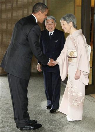 両陛下とオバマ