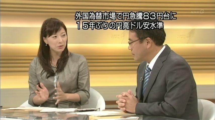 NHK「ニュースウォッチ9」円高・株安のニュースで「日銀が実施できる対策はありません。」