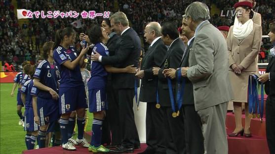 なでしこJapan表彰式