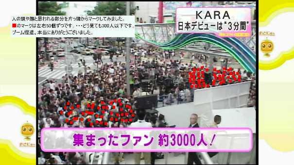 渋谷のKARAのデビューイベント