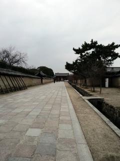 奈良_法隆寺東大門道