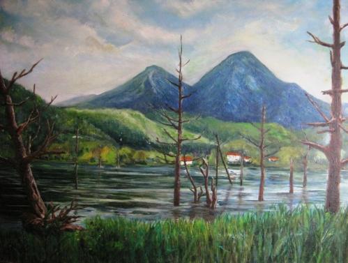 春の女神湖畔