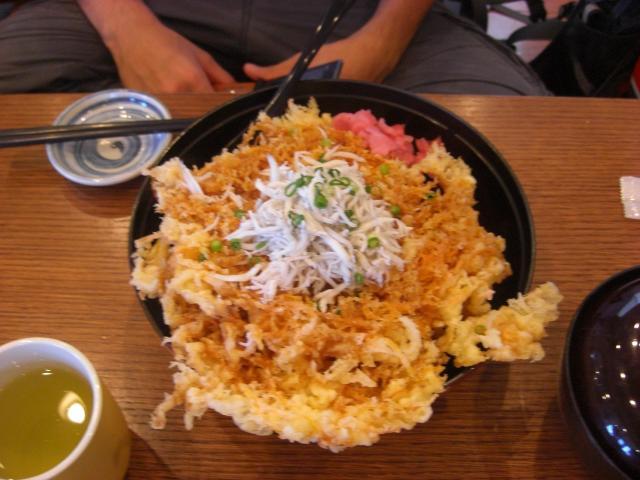 江ノ島ツー かきあげ丼