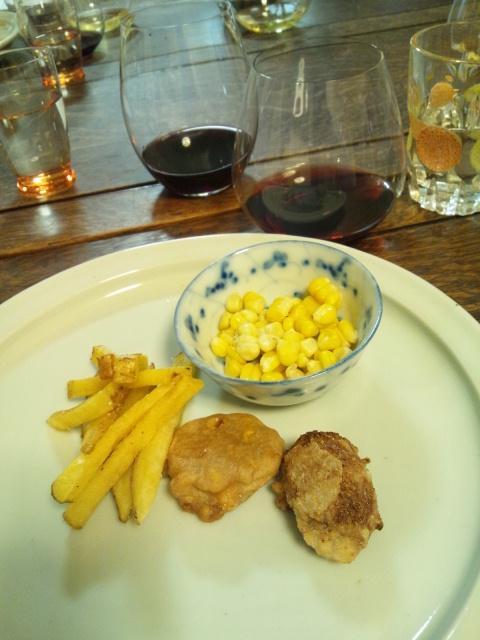 chie流フライドポテトとチキンナゲット風食べ物