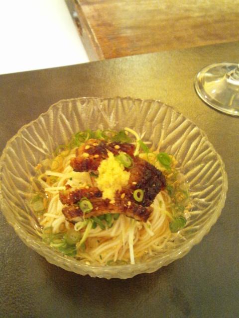 鰻ぶっかけ素麺