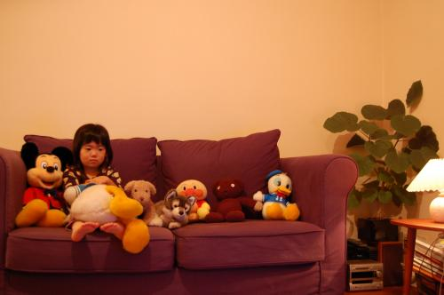 テレビを見る風景